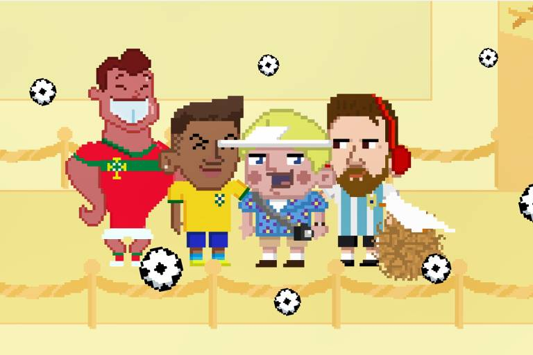 Neymar vira game onde o jogador precisa ficar em pé