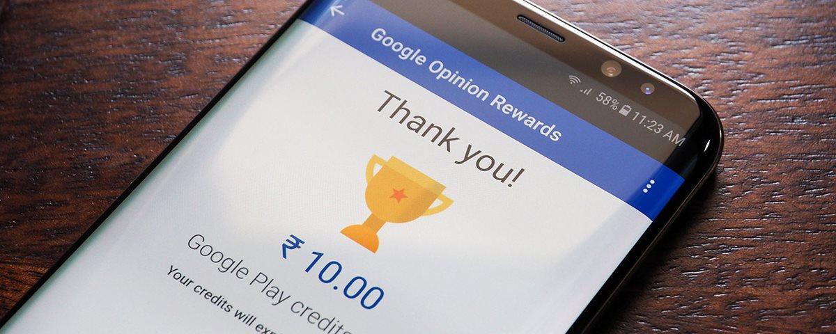 Como ganhar dinheiro no Google Opinion Rewards