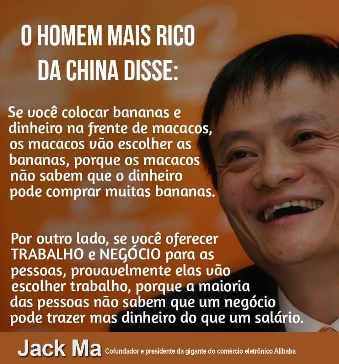 Jack Ma-O homem mais rico da Chinha