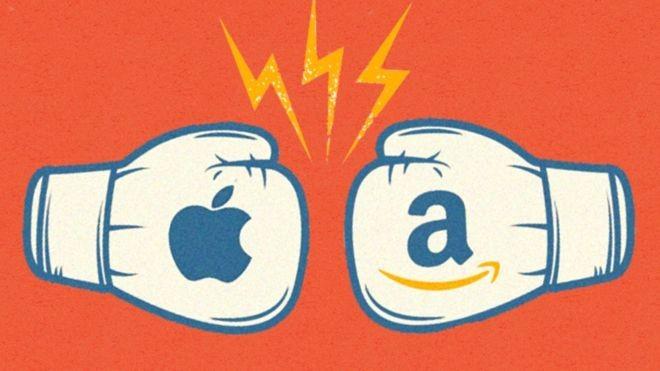 Apple x Amazon: quem será o vencedor