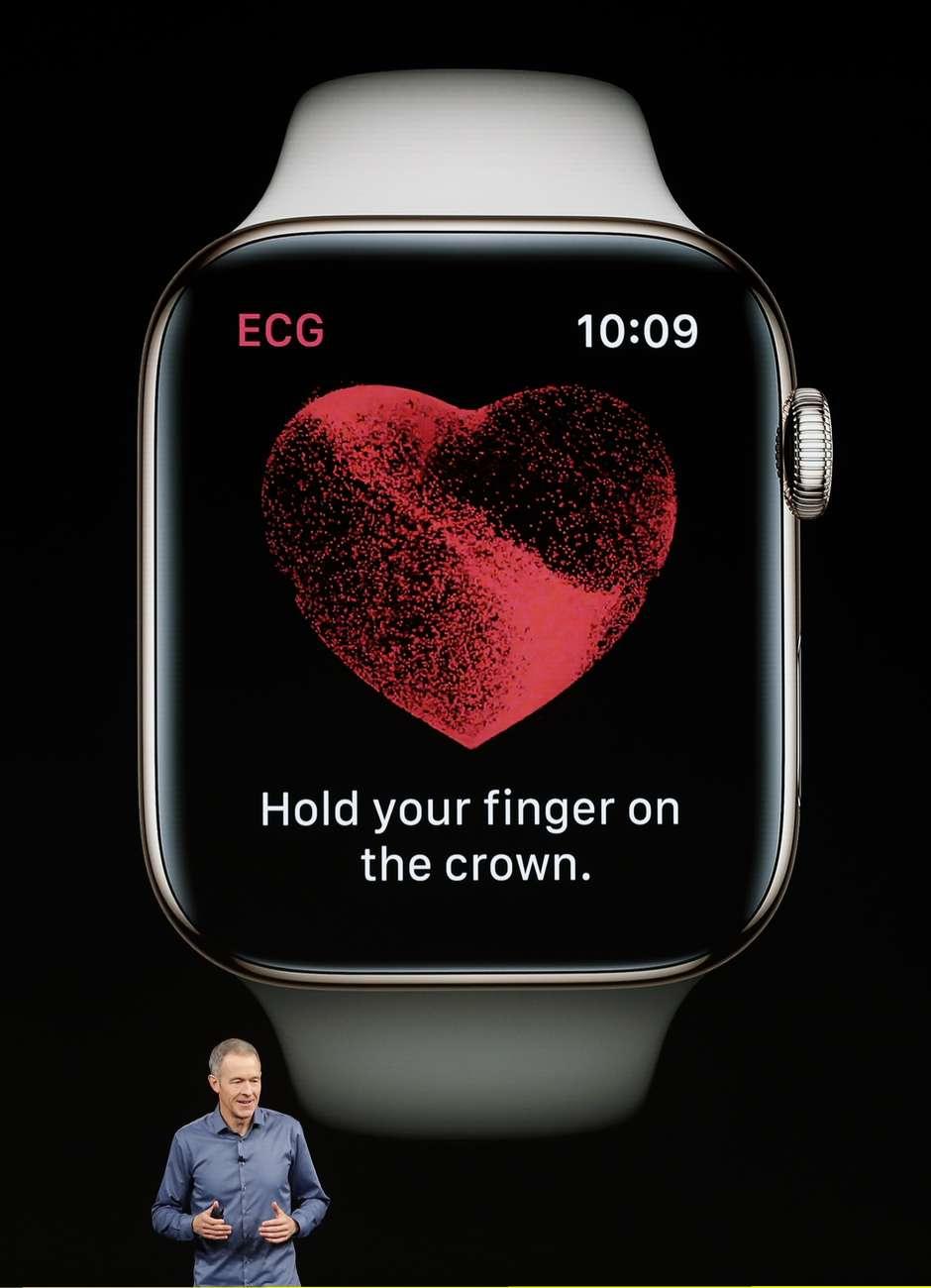 Apple Watch fará eletrocardiograma