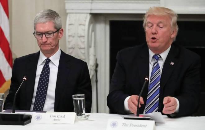 Trump faz ações de fornecedores da Apple despencarem