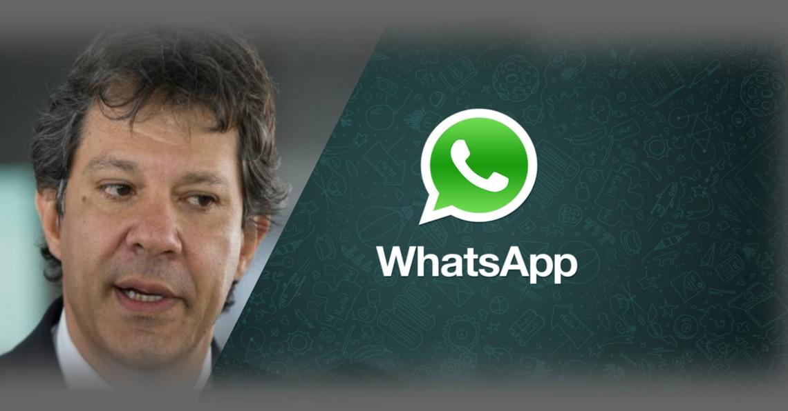 WhatsApp diz em nota que investiga suposto disparo de mensagens contra Haddad