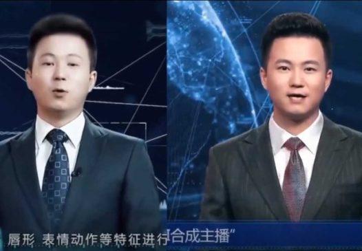 Reporter âncora de TV feito por inteligência artificial